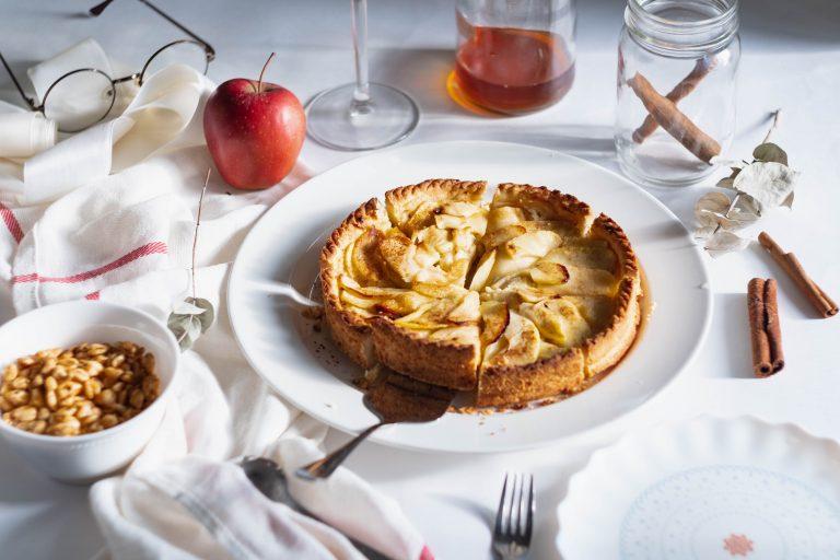 Pay de manzanas con maple
