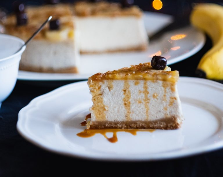 Cheesecake de maple con nuez