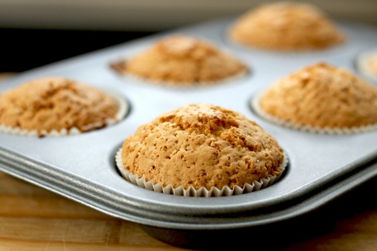Muffins de salvado y maple