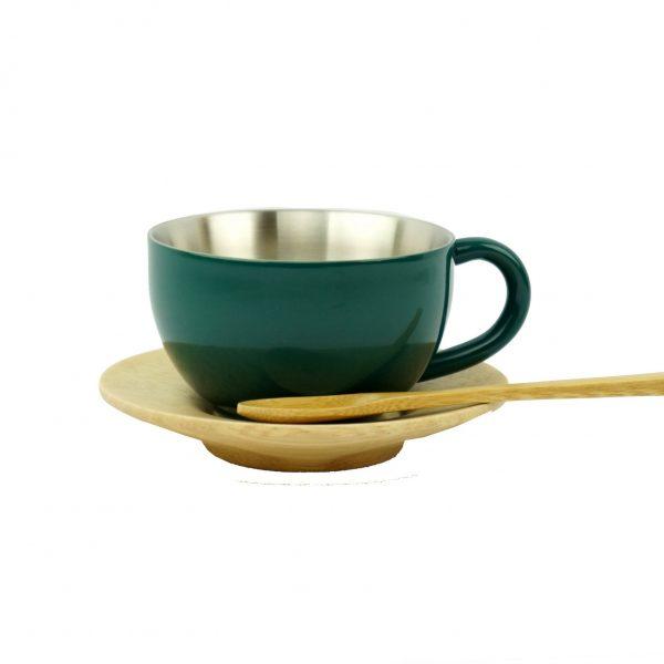 Taza de té – verde oscuro
