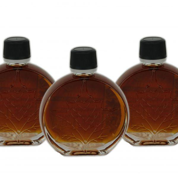 Jarabe puro de maple – OSCURO, Sabor Robusto – 3x50ml Hoja medallón O'CANADA