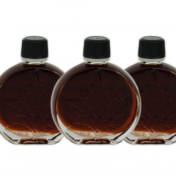 Jarabe puro de maple – MUY OSCURO, Pronunciación Sabor – 3x50ml Hoja medallón O'CANADA